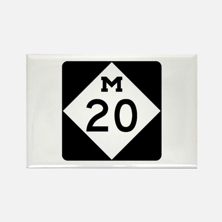 M-20, Michigan Rectangle Magnet (100 pack)
