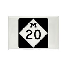 M-20, Michigan Rectangle Magnet