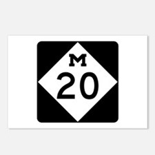 M-20, Michigan Postcards (Package of 8)