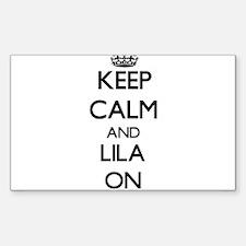 Keep Calm and Lila ON Decal
