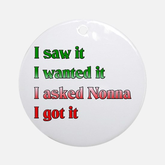 I Asked Nonna Ornament (Round)