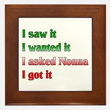 I Asked Nonna Framed Tile