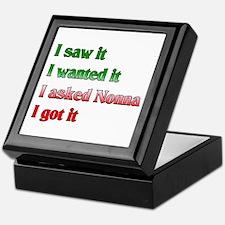 I Asked Nonna Keepsake Box