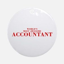 WORLDS MOST AWESOME Accountant-Bod red 300 Ornamen