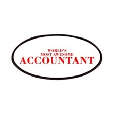 WORLDS MOST AWESOME Accountant-Bod red 300 Patch