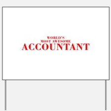 WORLDS MOST AWESOME Accountant-Bod red 300 Yard Si
