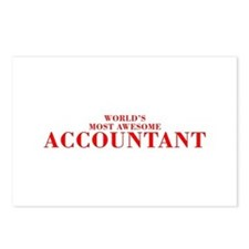WORLDS MOST AWESOME Accountant-Bod red 300 Postcar