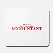 WORLDS MOST AWESOME Accountant-Bod red 300 Mousepa