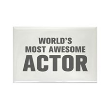 WORLDS MOST AWESOME Actor-Akz gray 500 Magnets