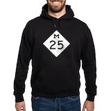 Highway m25 Dark Hoodies