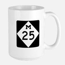 M-25, Michigan Large Mug