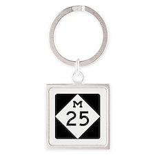 M-25, Michigan Square Keychain