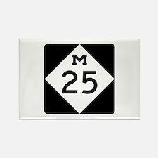 M-25, Michigan Rectangle Magnet