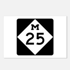 M-25, Michigan Postcards (Package of 8)