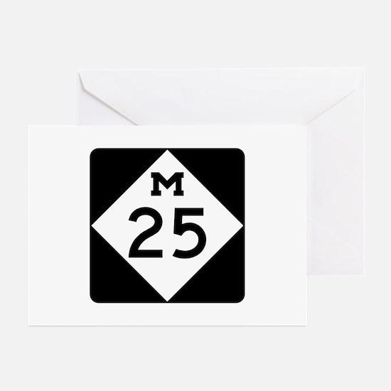 M-25, Michigan Greeting Cards (Pk of 10)