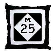 M-25, Michigan Throw Pillow