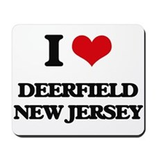 I love Deerfield New Jersey Mousepad