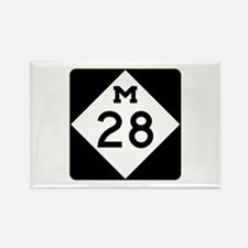M-28, Michigan Rectangle Magnet