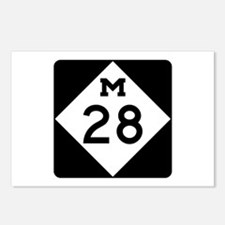 M-28, Michigan Postcards (Package of 8)