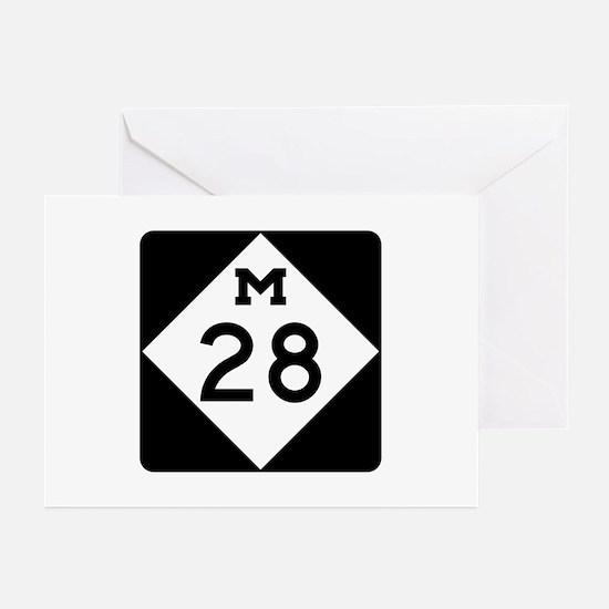 M-28, Michigan Greeting Cards (Pk of 10)
