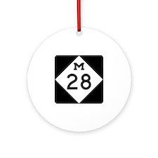 M-28, Michigan Ornament (Round)