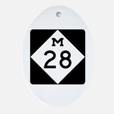 M-28, Michigan Ornament (Oval)