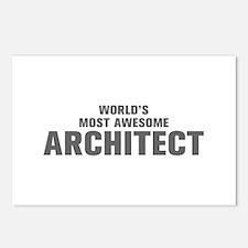 WORLDS MOST AWESOME Architect-Akz gray 500 Postcar
