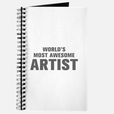 WORLDS MOST AWESOME Artist-Akz gray 500 Journal