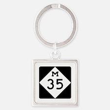 M-35, Michigan Square Keychain