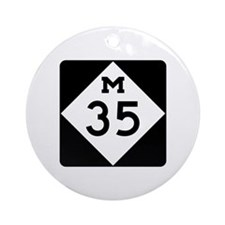 M-35, Michigan Ornament (Round)