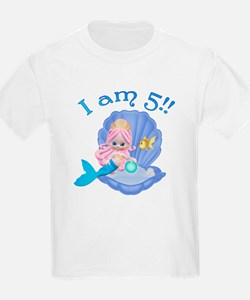 Lil Mermaid 5th Birthday T-Shirt