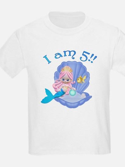 Lil Mermaid 5th Birthday T-Shirt