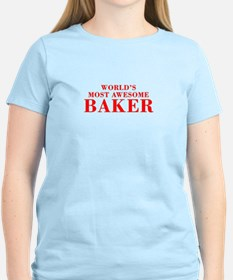 WORLDS MOST AWESOME Baker-Bod red 300 T-Shirt