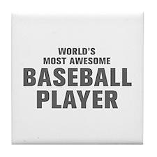 WORLDS MOST AWESOME Baseball Player-Akz gray 300 T