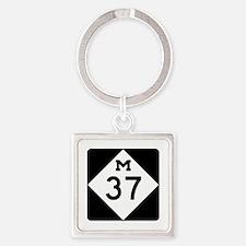 M-37, Michigan Square Keychain