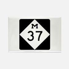 M-37, Michigan Rectangle Magnet