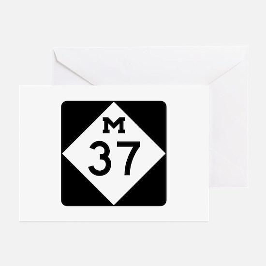 M-37, Michigan Greeting Cards (Pk of 10)