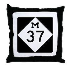 M-37, Michigan Throw Pillow