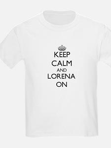 Keep Calm and Lorena ON Women's Cap Sleeve T-Shirt