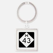 M-43, Michigan Square Keychain
