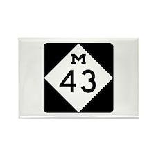 M-43, Michigan Rectangle Magnet (10 pack)