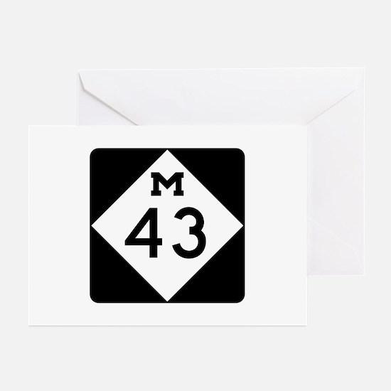 M-43, Michigan Greeting Cards (Pk of 10)