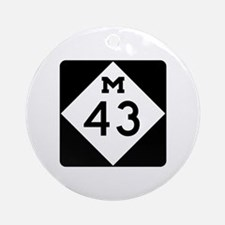 M-43, Michigan Ornament (Round)