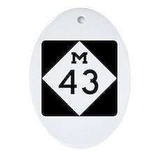 M-43, Michigan Ornament (Oval)