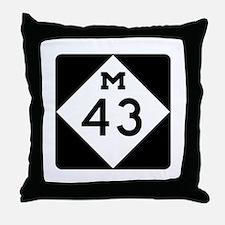 M-43, Michigan Throw Pillow