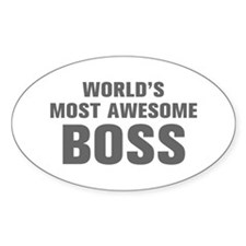 WORLDS MOST AWESOME Boss-Akz gray 500 Decal