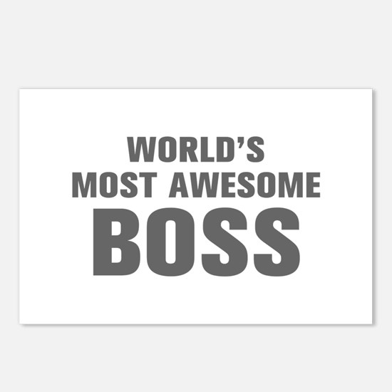 WORLDS MOST AWESOME Boss-Akz gray 500 Postcards (P