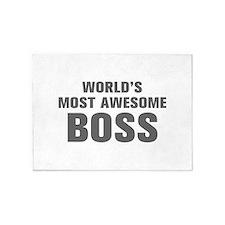 WORLDS MOST AWESOME Boss-Akz gray 500 5'x7'Area Ru