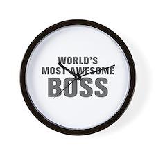 WORLDS MOST AWESOME Boss-Akz gray 500 Wall Clock