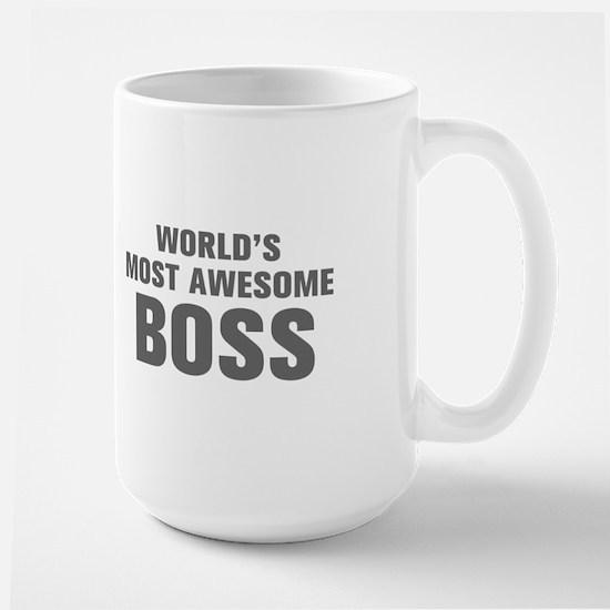 WORLDS MOST AWESOME Boss-Akz gray 500 Mugs